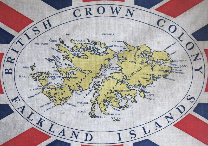 Old map of the British Crown Colony of the Falkland Islands