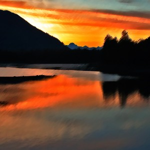 Dawn at Wrangell Narrows