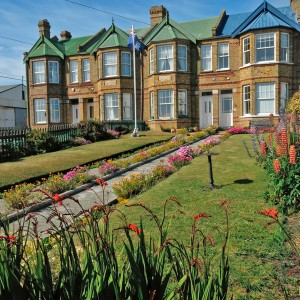 Terrace houses and gardens, Stanley