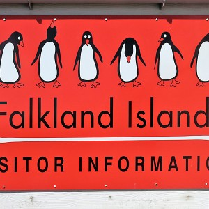 Falkland Islands visitor information booth