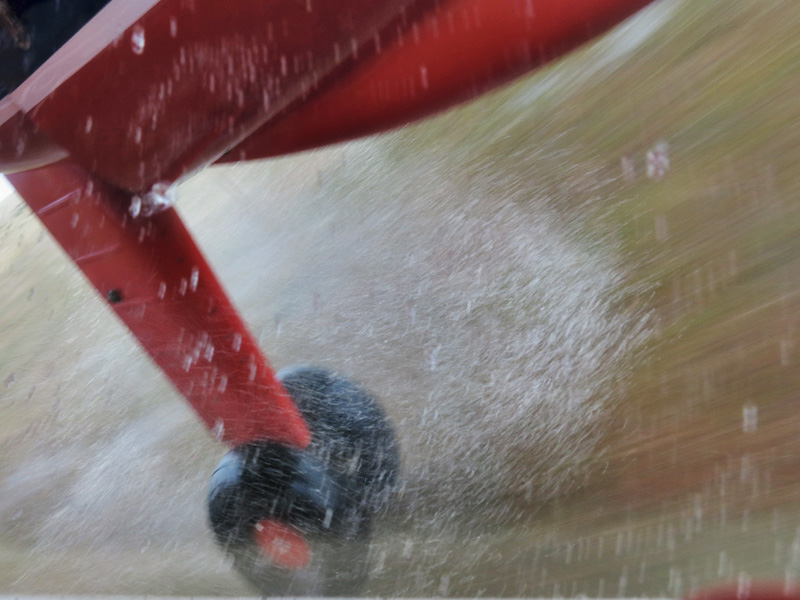 Wet landing at Pebble