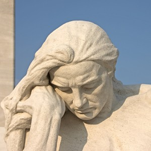 The Mourning Father, detail, Vimy 2007