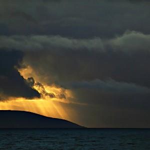 Sunset over Black Head