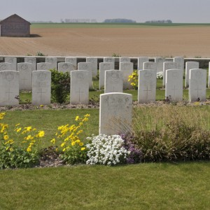 Chinese Labour Corps graves at Bellicourt British Cemetery