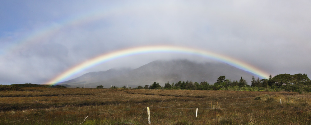 Double rainbow near Maam Cross, Connemara