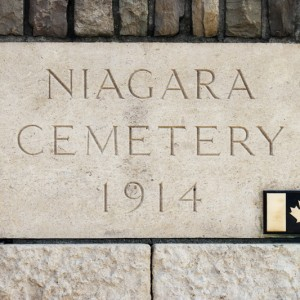Niagara Cemetery 1914 with Canadian Maple Leaf