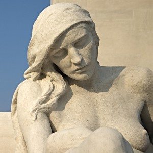 The Mourning Mother, detail, Vimy 2007