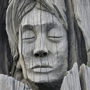 Wooden Carving 'Raices Fueguinas' Richard Yaksik & Sergio Moreira